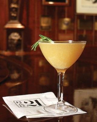 21 signature cocktails