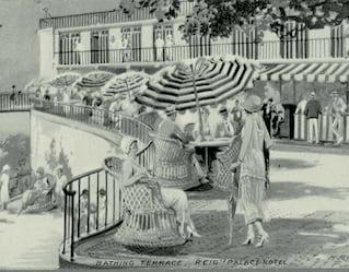 vintage postcard of reid's palace hotel