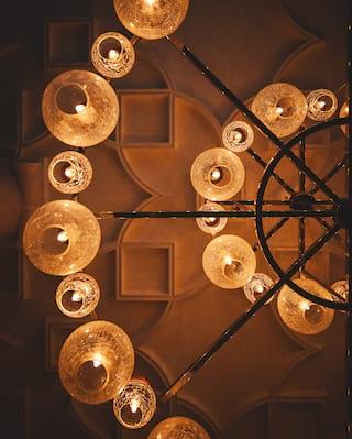 Chandelier detail at the Cadogan Hotel