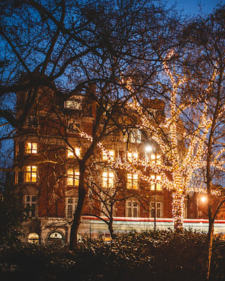 Festive decorations at Belmond Cadogan Hotel