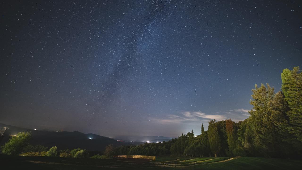 stargazing at Castello di Casole