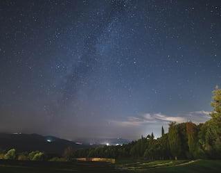 Il cielo stellato della toscana