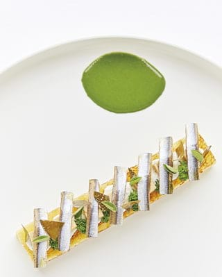 Close-up of a Michelin-starred contemporary Italian dish