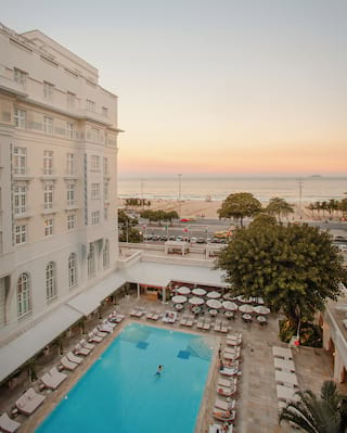 Belmond Copacabana Palace, pool and beach view