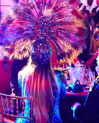 People celebrating during the Carnival Ball at Belmond Copacabana Palace
