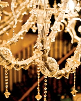 detail of a light feature in belmond charleston place's lobby