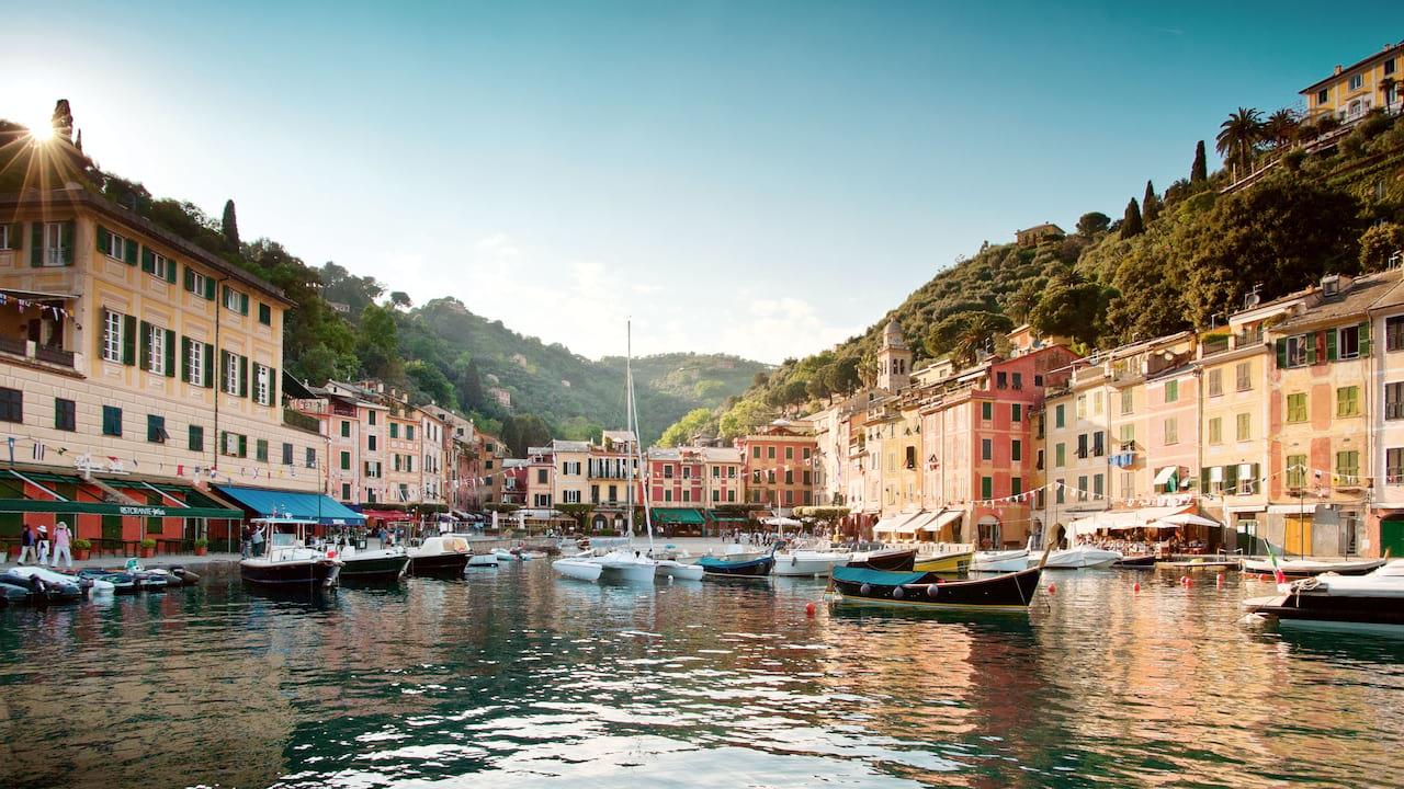 Portofino harbour in Italy