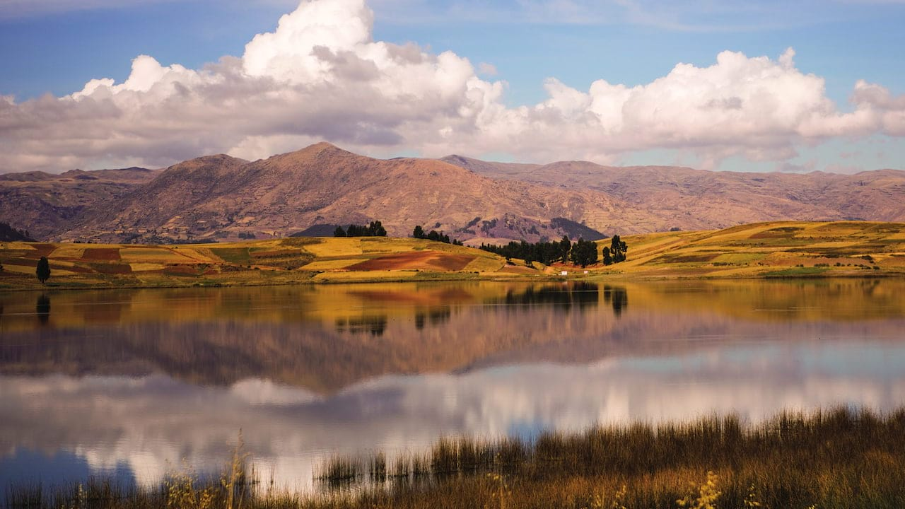 Beautiful colours of the Peruvian highlands