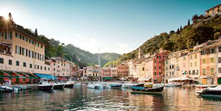 Restaurants in Portofino harbour