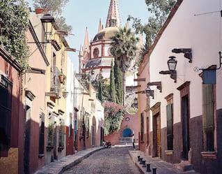Detail of the Parroquia de San Miguel Arcangel, San Miguel de Allende