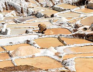 maras salt mines sunrise peru