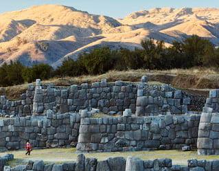 Sunrise at the City of the Incas cusco