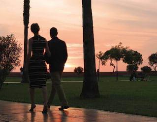 sunrise walk activity in miraflores boardwalk, lima peru