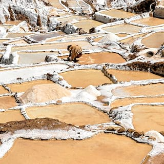 Stunning landscape featuring salt pans that are still used exactly as they were at the time of the Incas