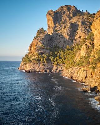 cove and sea in Banyalbufar mallorca