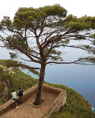 sea view from the tramuntana mountains, mallorca