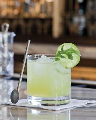 a cocktail in santa barbara, el encanto bar