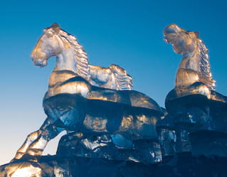 Ice carving classes, St Petersburg
