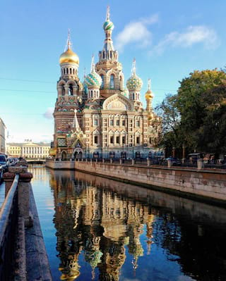 Church of the savior of spilled blood in St Petersburg