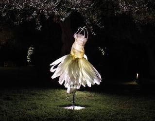 a sculpture of a ballerina dress