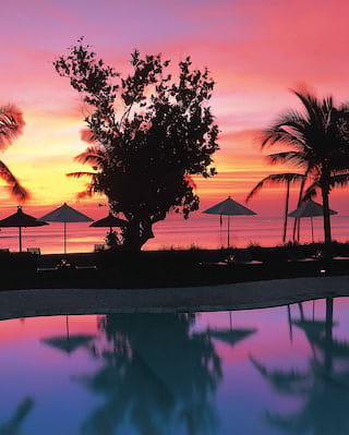 tropical sunset in bali