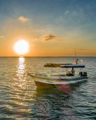Sunset in Jimbaran Bay