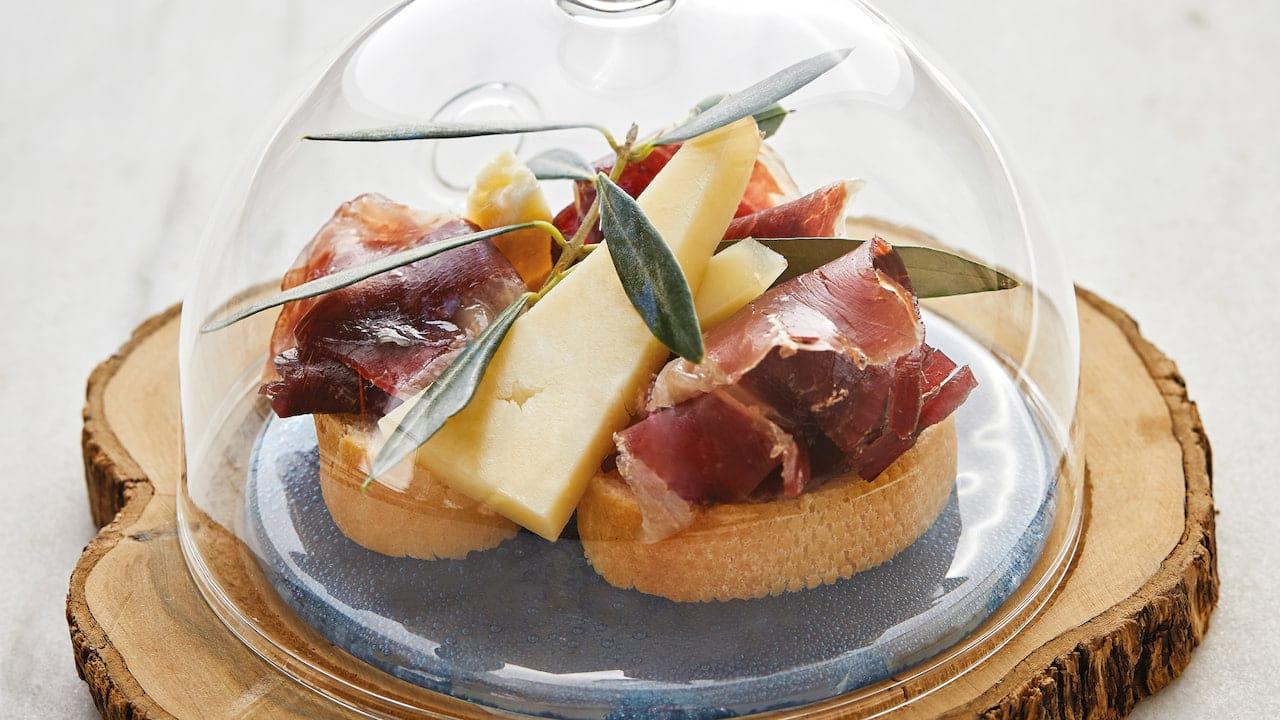 Food at Miro Restaurant in Deia, Mallorca