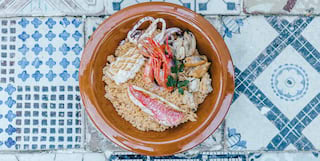 Traditional Trapani fish couscous recipe dish