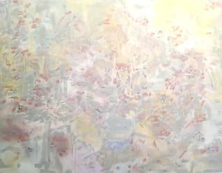 Kathleen Mullaniff's landscape art at Belmond Cadogan Hotel