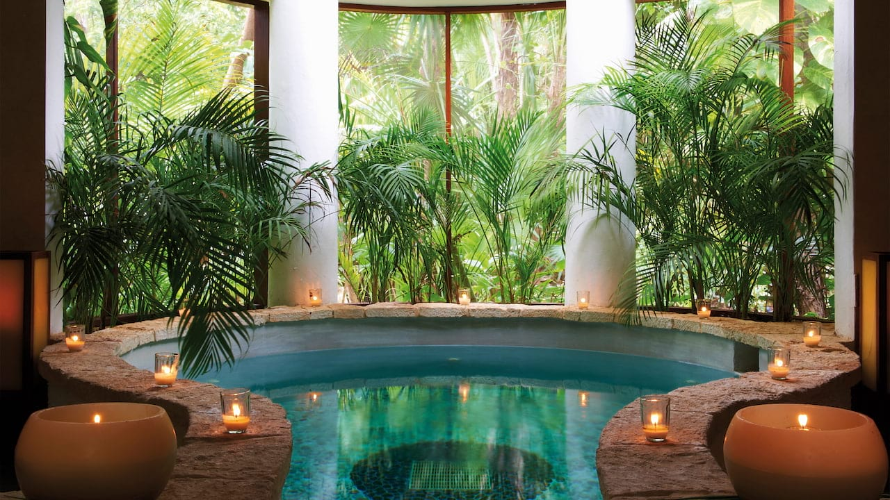 Kinan spa pool at Belmond Maroma Resort & Spa