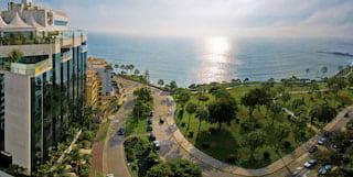 aerial shot of belmond miraflores park hotel in lima