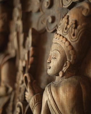 Buddha garden in Koh Samui