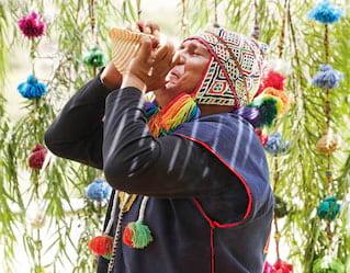 Ceremonia en homenaje a la Pachamama