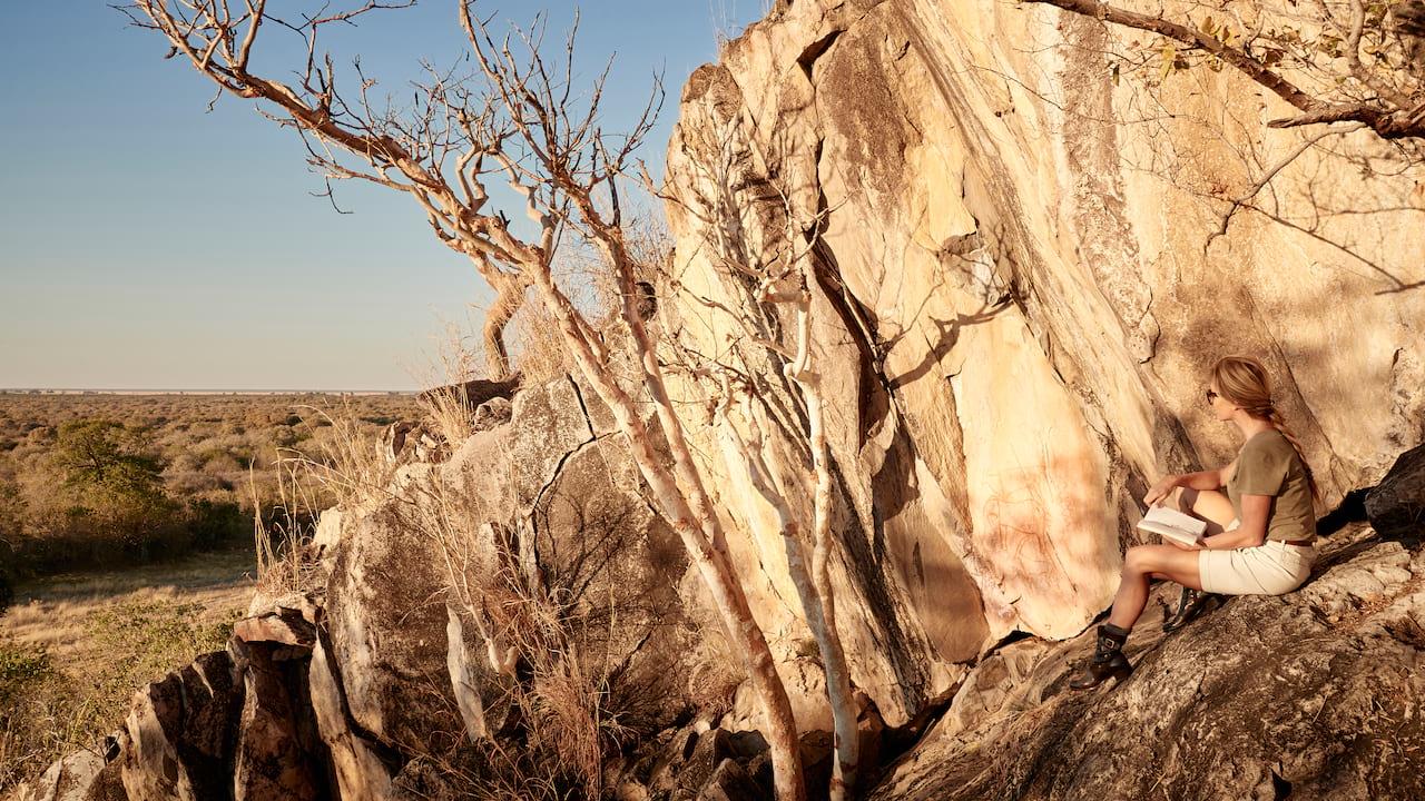 Bushmen paintings in Botswana