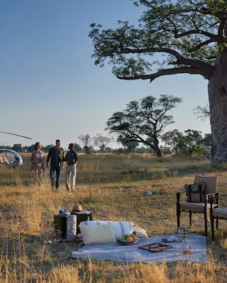 helicopter safari in botswana