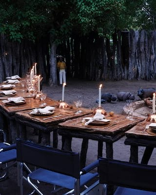 Mothupi's Boma Dining on Safari in Botswana