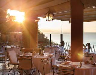 autumn dining in portofino