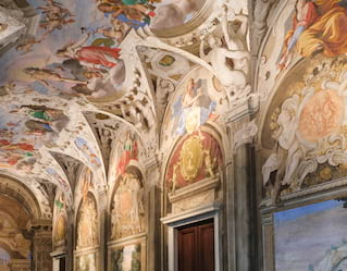detail of italian palace