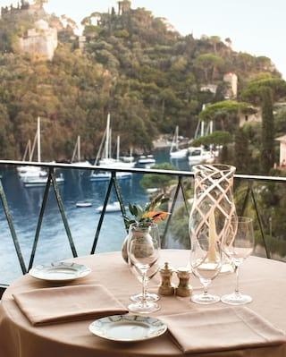 Pranzo di Natale a Portofino, Liguria, Italia