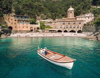gozzo boat in portofino