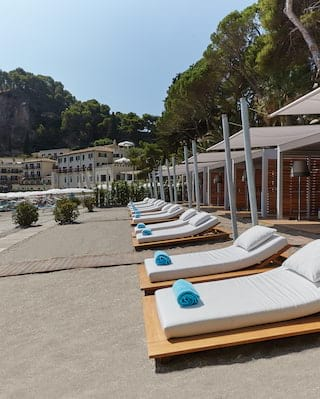 Beach cabanas in Taormina