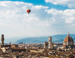 Hot Air Balloon over Florence
