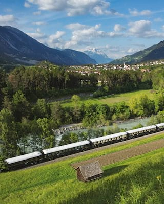 Luxury train travel Europe