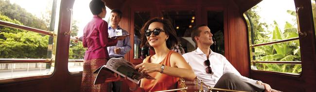 Luxury train travel - observation car