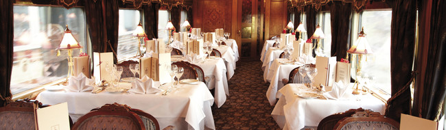 Fine Dining an Bord des Eastern&Oriental Express
