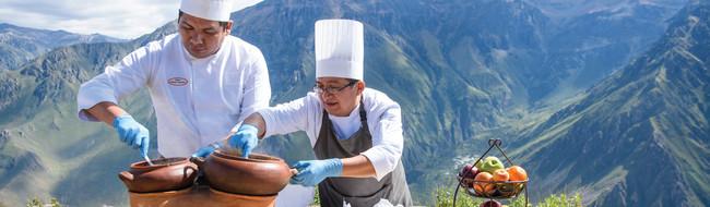 Dining in Peru