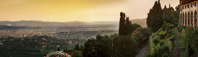 View of Tuscany, honeymoon escape