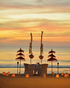 Romantic dinner Bali