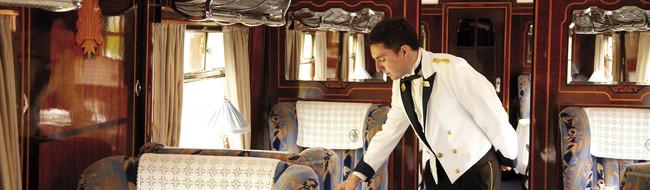 Acomodações de luxo a bordo do British Pullman