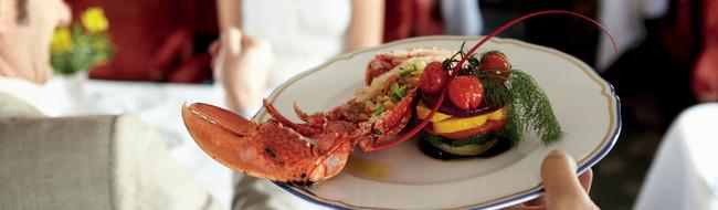 Gastronomisches Angebot an Bord eines Luxuszuges